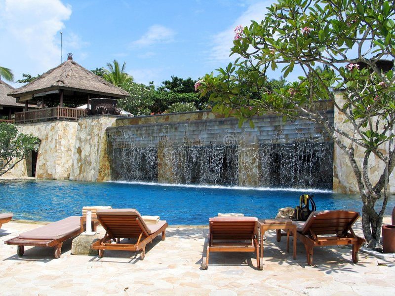 Wittebroodsweken in Bali royalty-vrije stock afbeeldingen