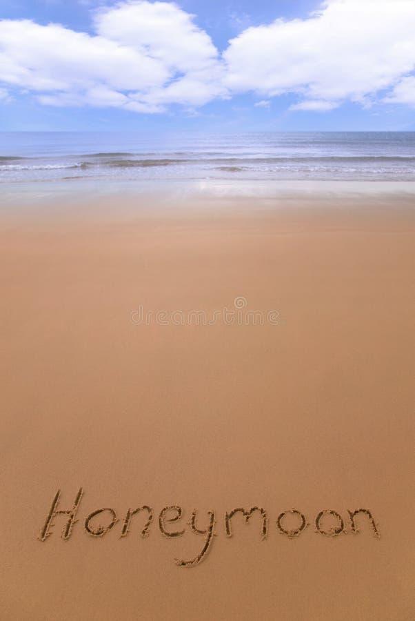 Wittebroodsweken op het strand. royalty-vrije stock foto