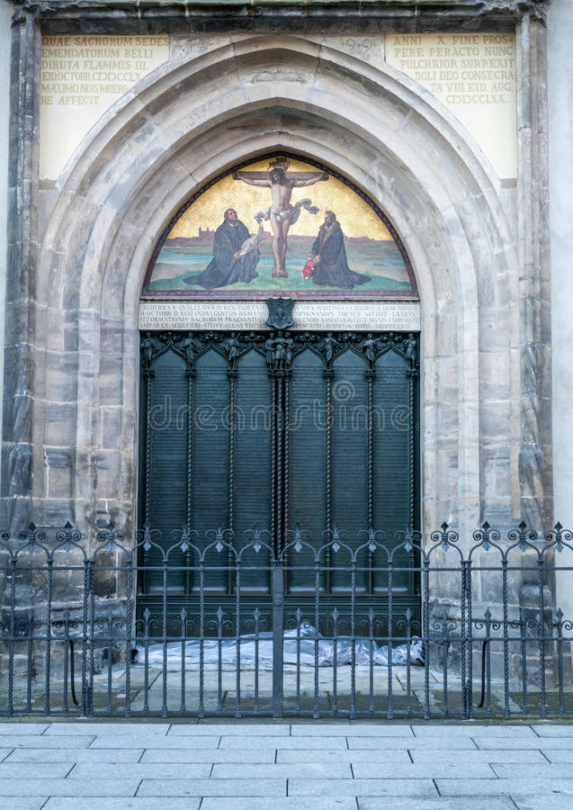 Download Wittenberg - The Famous Door At The All Saint`s Church Where Martin Luther & Wittenberg - The Famous Door At The All Saint`s Church Where Martin ...