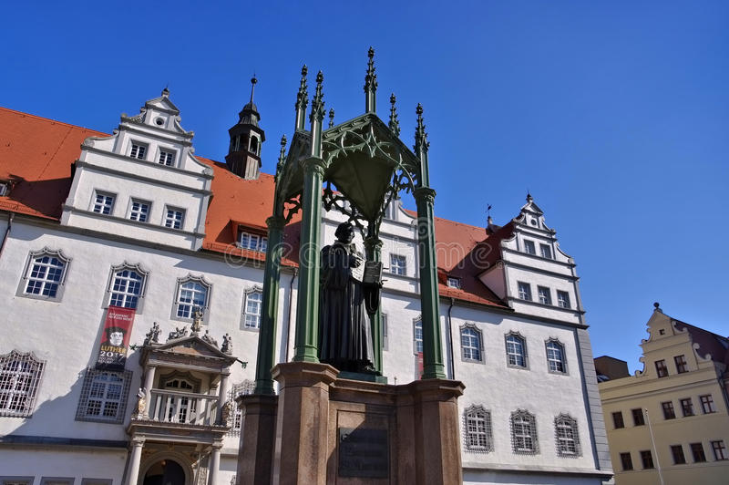 Wittenberg gammalt stadshus royaltyfria bilder