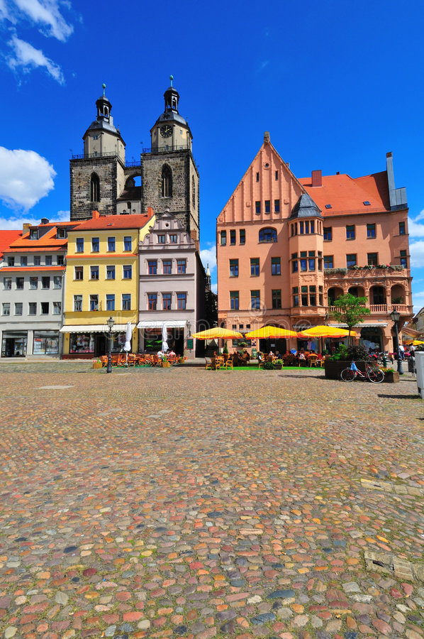 Wittenberg Marktplatz lizenzfreie stockfotografie