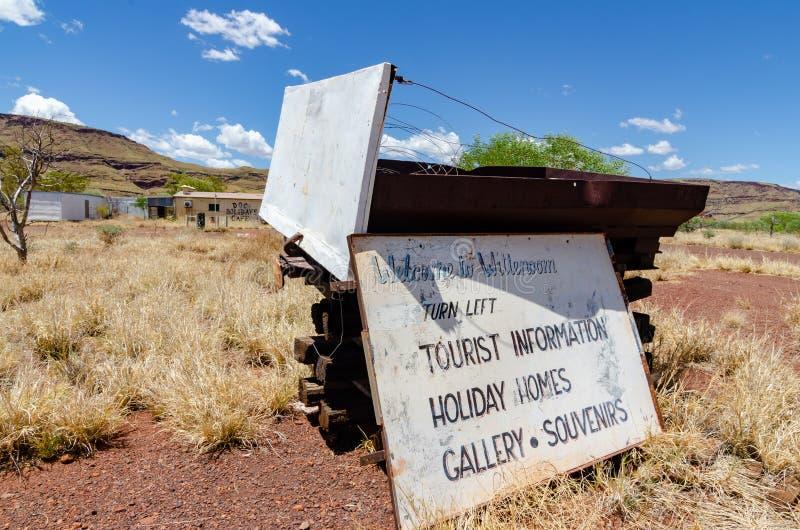 Wittenoom, Pilbara, Austrália Ocidental - uma cidade famosa para ser inabitável devido ao asbesto azul mortal fotos de stock