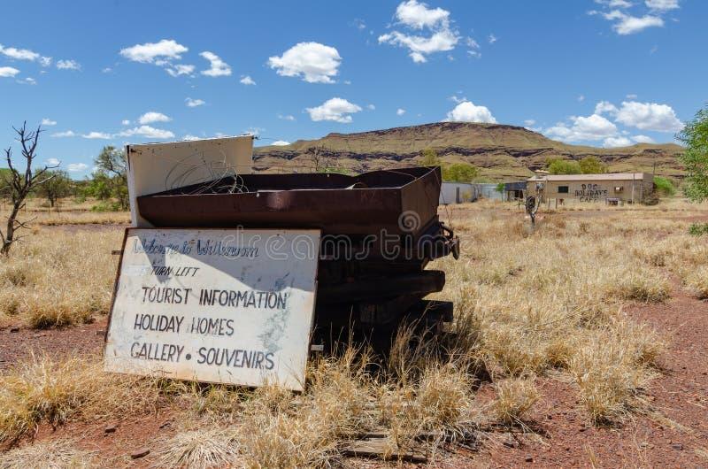 Wittenoom, Pilbara, Austrália Ocidental - uma cidade famosa para ser inabitável devido ao asbesto azul mortal imagem de stock royalty free