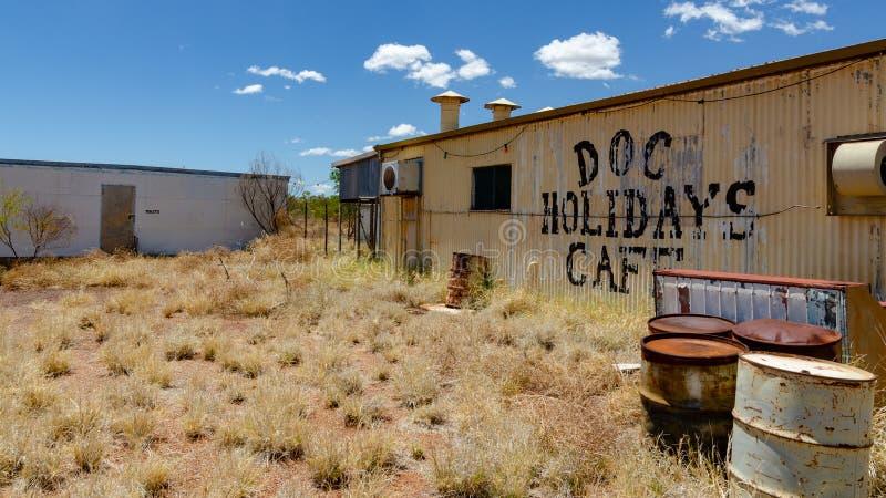 Wittenoom, Pilbara, Austrália Ocidental - uma cidade famosa para ser inabitável devido ao asbesto azul mortal imagem de stock