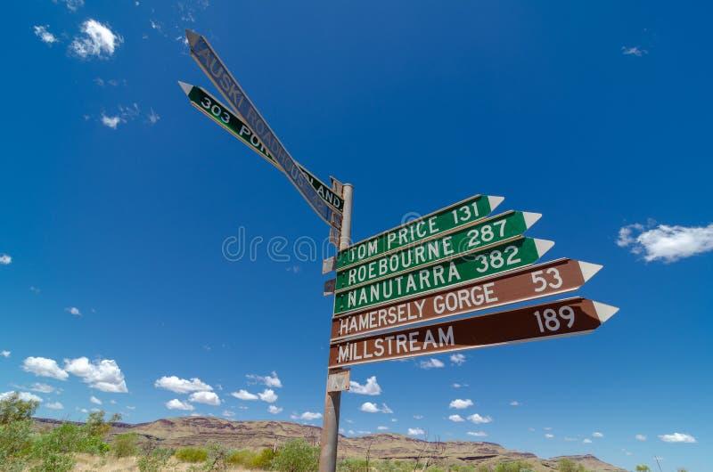 Wittenoom, Pilbara, Austrália Ocidental - uma cidade famosa para ser inabitável devido ao asbesto azul mortal fotos de stock royalty free