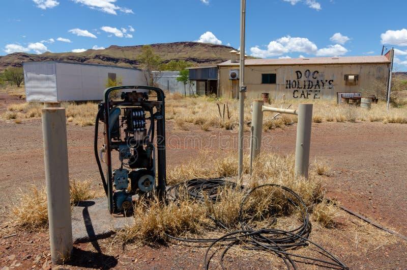 Wittenoom, Pilbara, Austrália Ocidental - uma cidade famosa para ser inabitável devido ao asbesto azul mortal imagens de stock