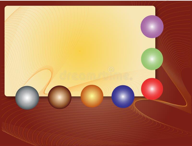 witth сфер рамки иллюстрация вектора