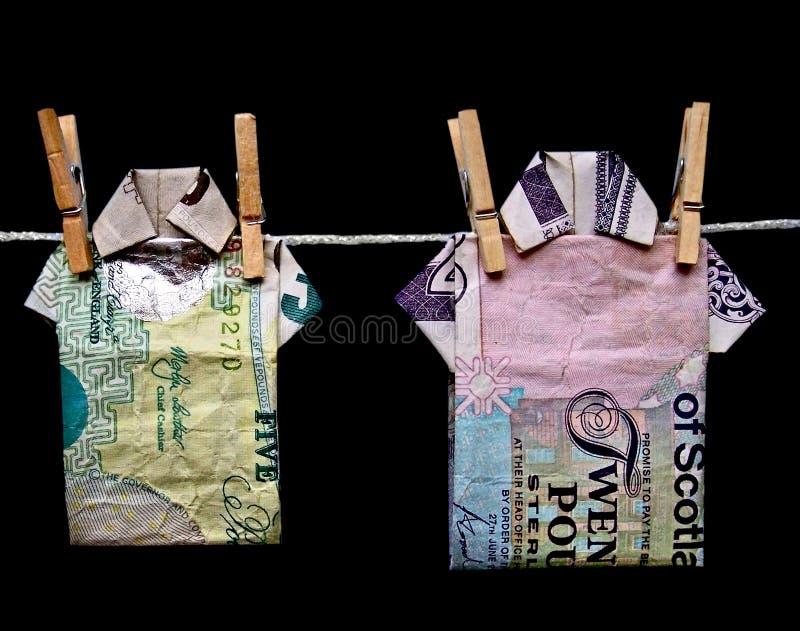 Witwassen van geld royalty-vrije stock afbeelding