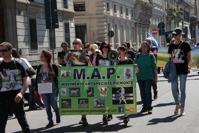 Wiwisekcja marsz 13 Maj 2017 Mediolan zdjęcie stock
