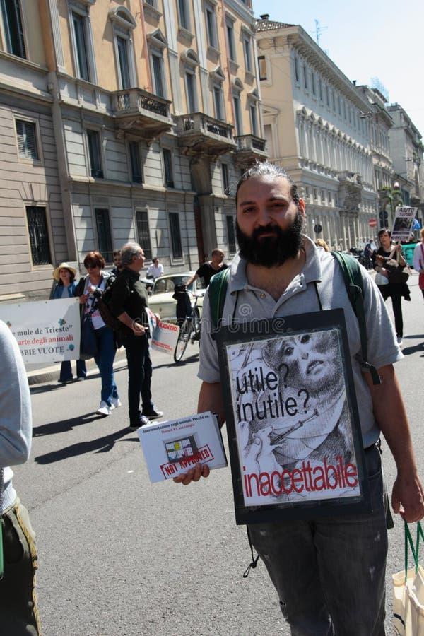 Wiwisekcja marsz 13 Maj 2017 Mediolan obrazy royalty free