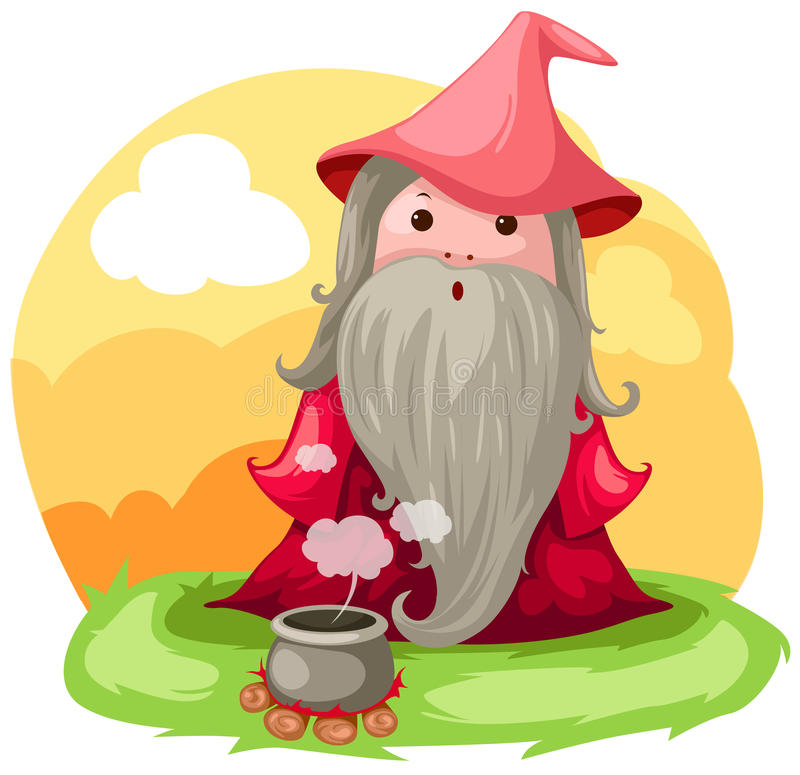 Wizard royalty free illustration