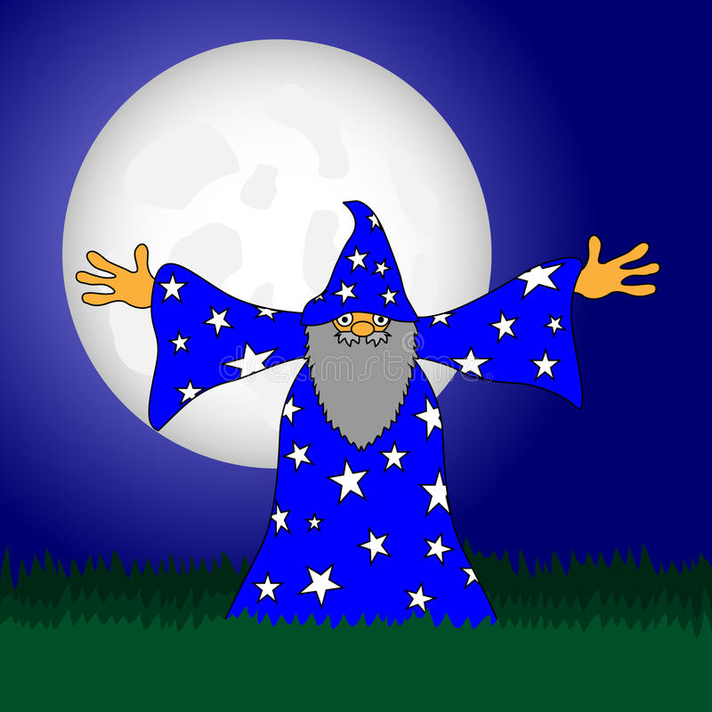 Download Wizard stock vector. Image of drawing, funny, halloween - 28121960
