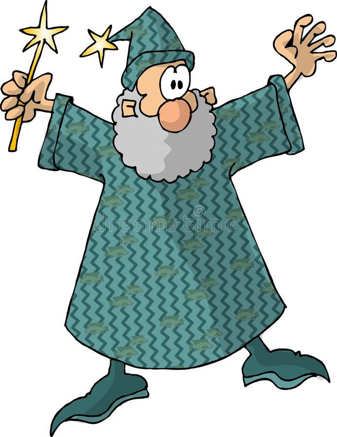 Wizard 3 vector illustration
