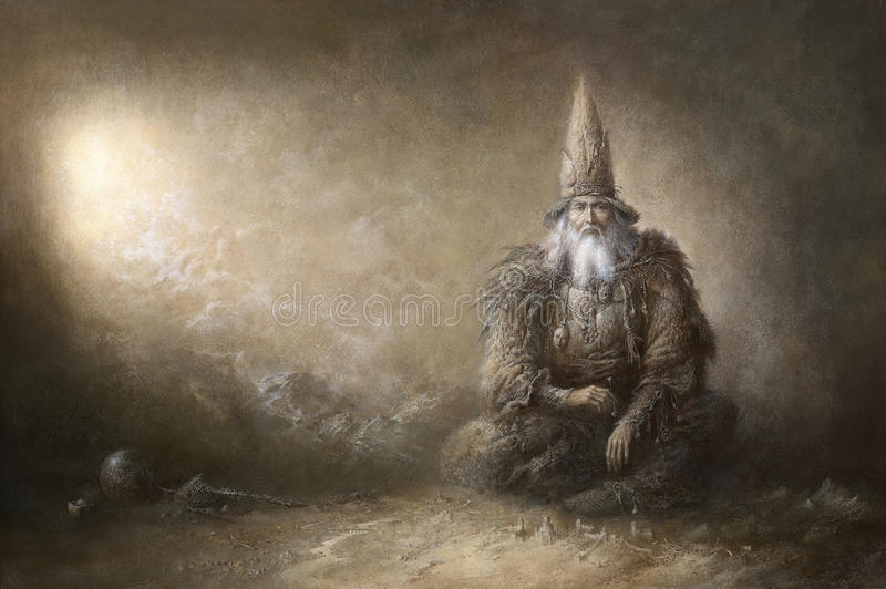 wizard ilustração royalty free