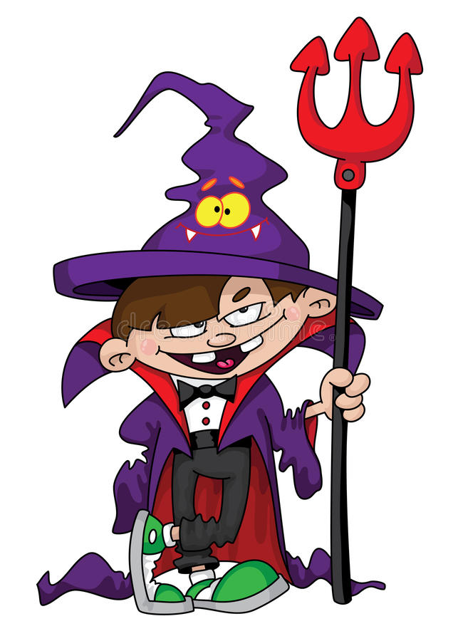 Download Wizard boy stock vector. Image of comic, cartoon, halloween - 16030744