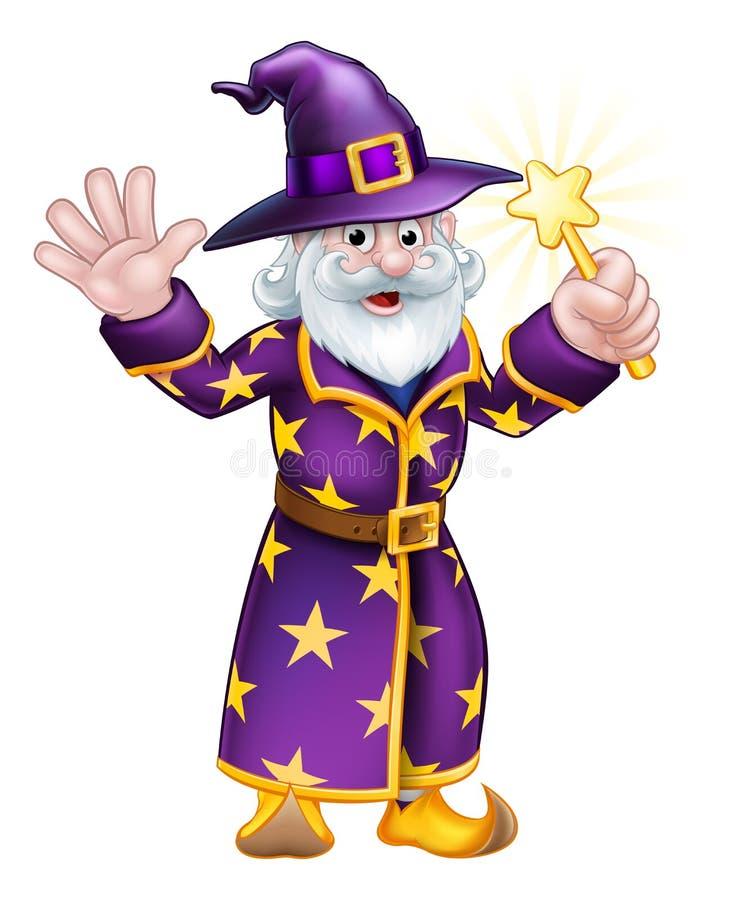 Wizard Cartoon Character stock illustration