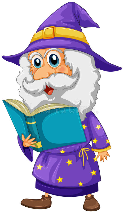 Download A wizard holding a book stock vector. Illustration of fiction - 33098704