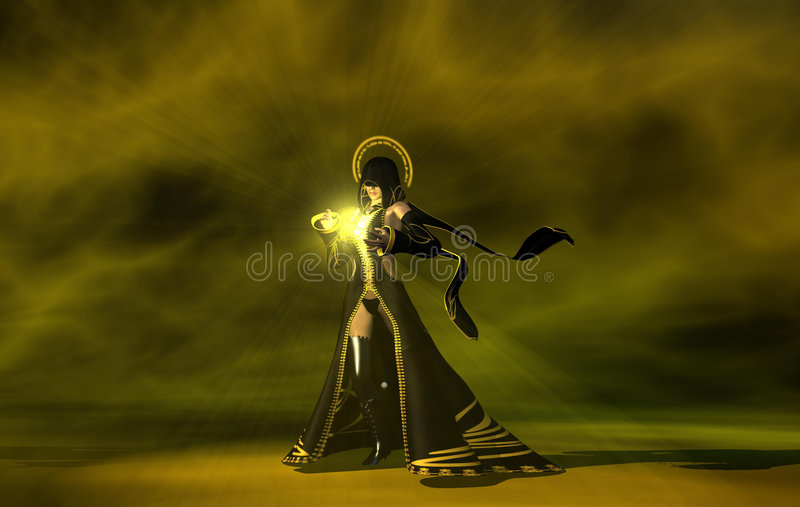 Download Wizard human female stock illustration. Image of halloween - 7538869