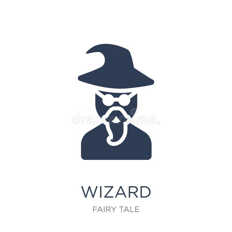 Wizard icon. Trendy flat vector Wizard icon on white background stock illustration