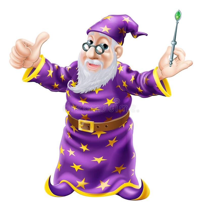 Wizard Illustration stock illustration