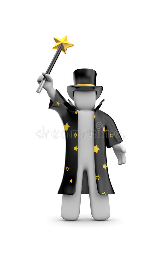Wizard. Image contain clipping path