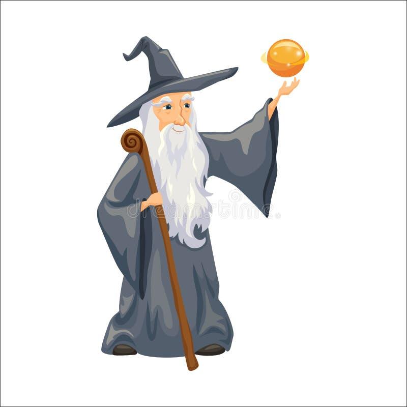 Wizard. Old man stock illustration