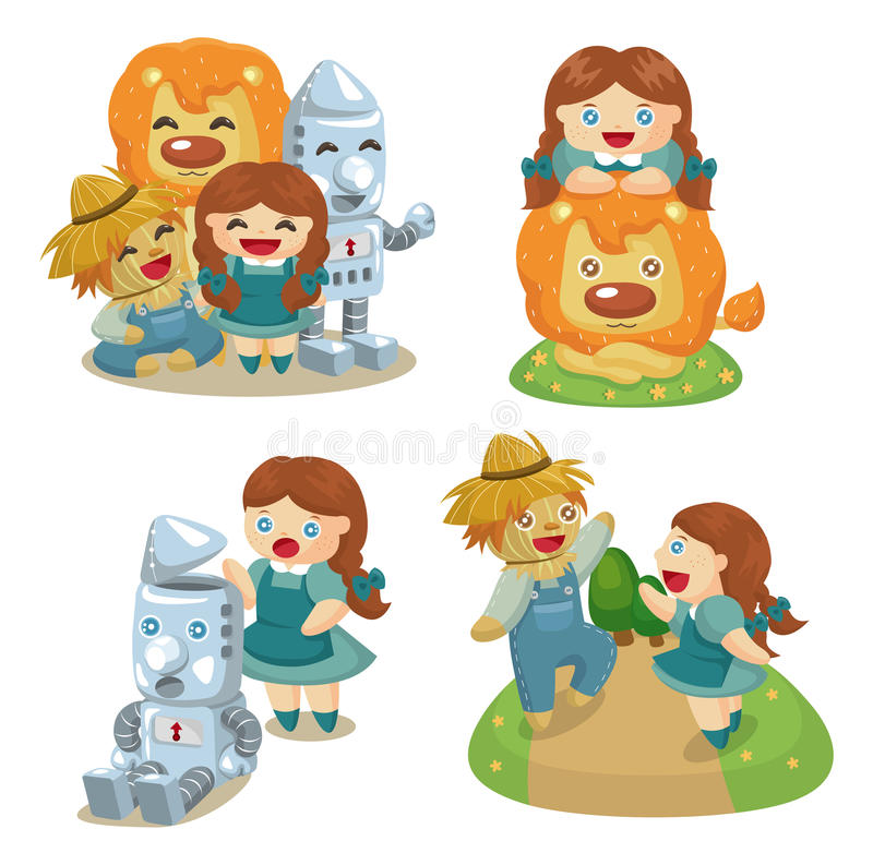 The Wizard of Oz vector illustration