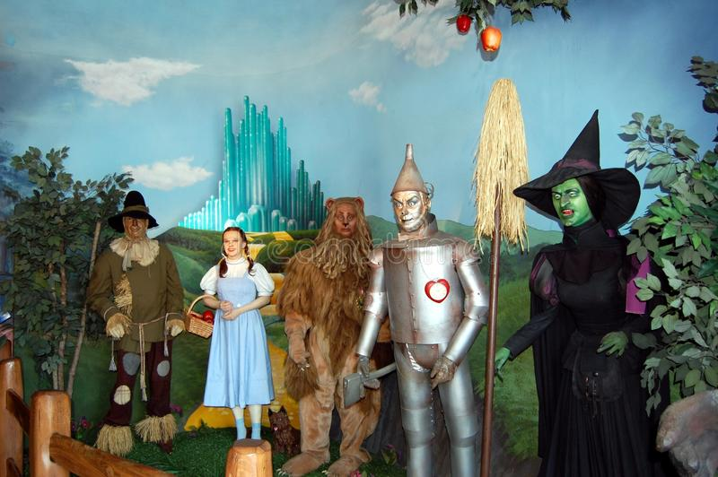 Wizard of Oz. Characters at the Hollywood Wax Museum in Hollywood California
