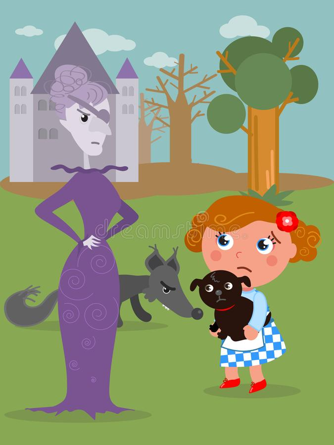 The wonderful wizard of Oz 06 the Wicked Witch stock illustration