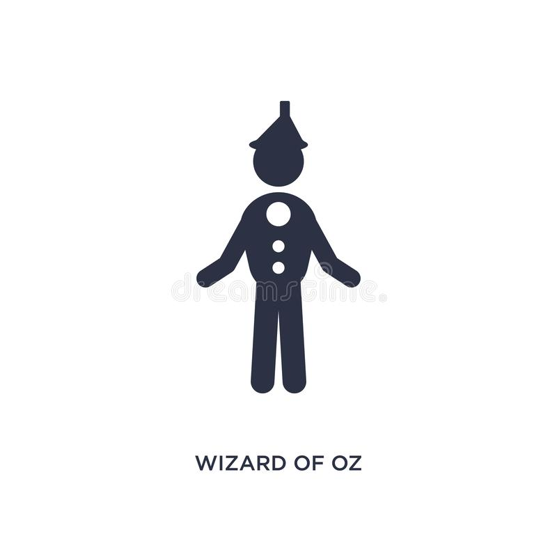 wizard of oz icon on white background. Simple element illustration from literature concept vector illustration
