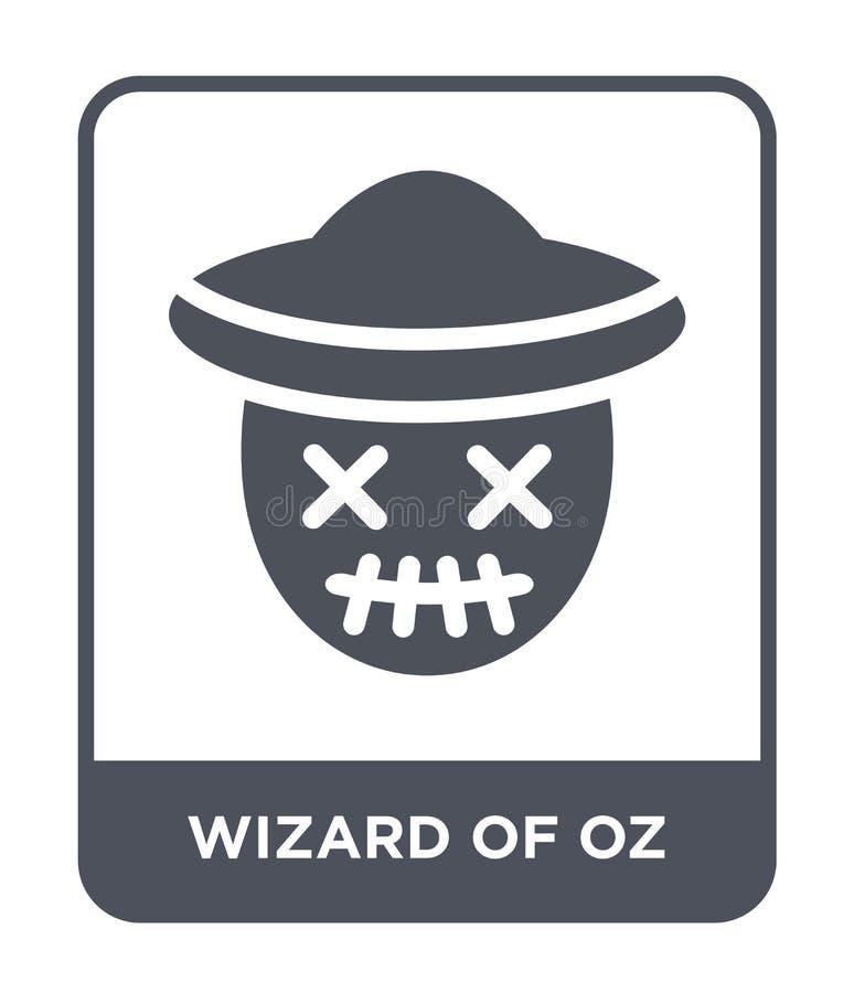 Wizard of Oz symbol i moderiktig designstil Wizard of Oz symbol som isoleras på vit bakgrund enkel Wizard of Oz vektorsymbol och vektor illustrationer