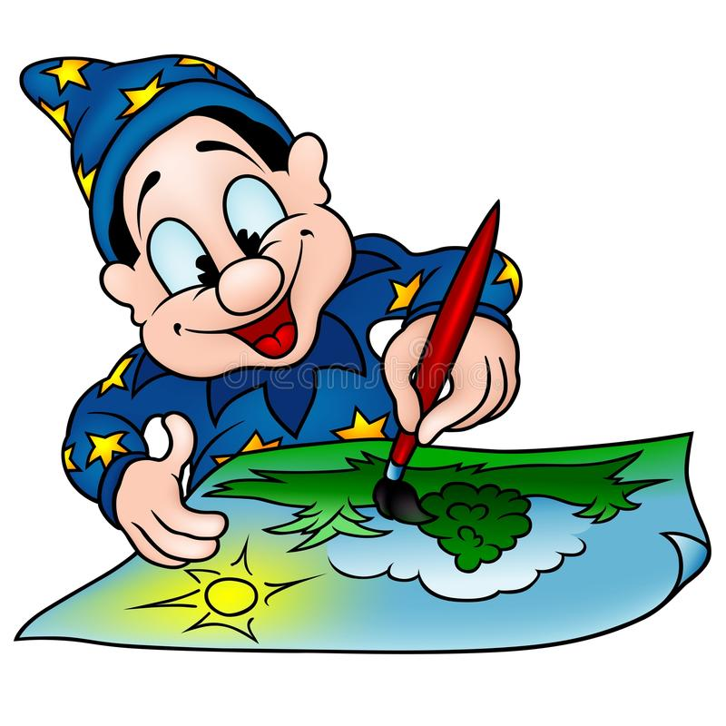 Wizard Painter Stock Images