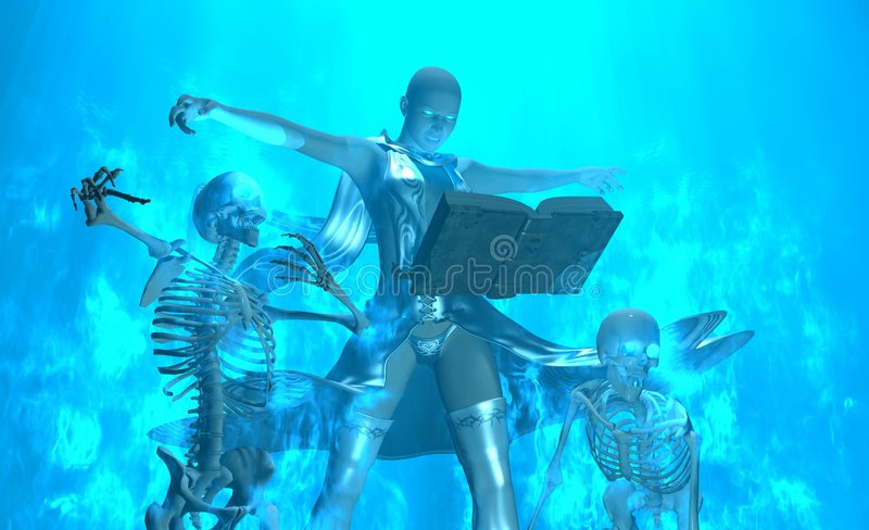 Download Wizard summons undead stock illustration. Image of fantasy - 7450463