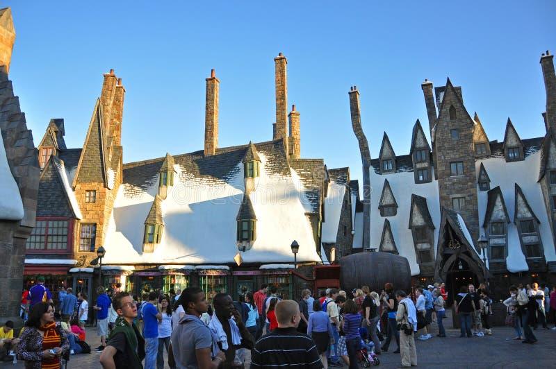 Wizarding värld av Harry Potter, Orlando, Florida, USA arkivfoton