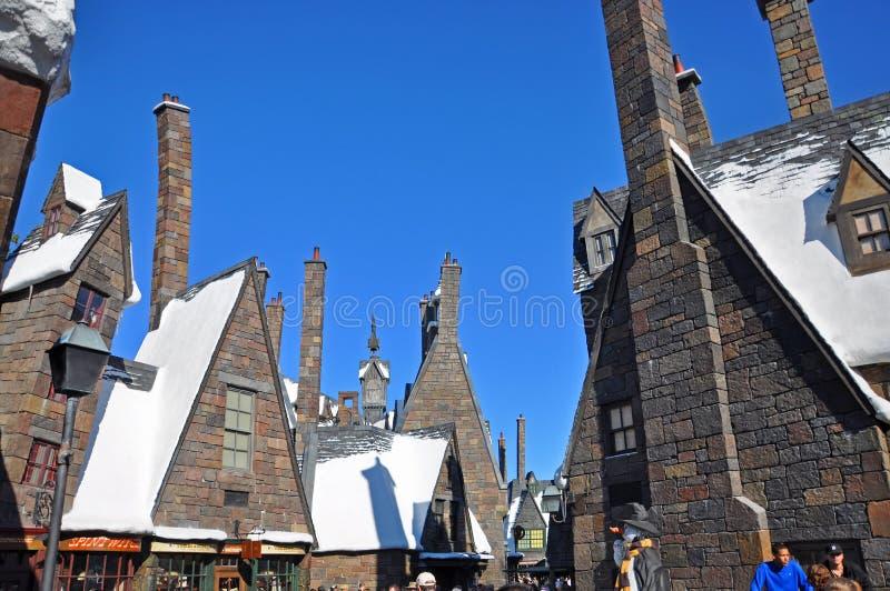 Wizarding värld av Harry Potter, Orlando, Florida, USA arkivbild