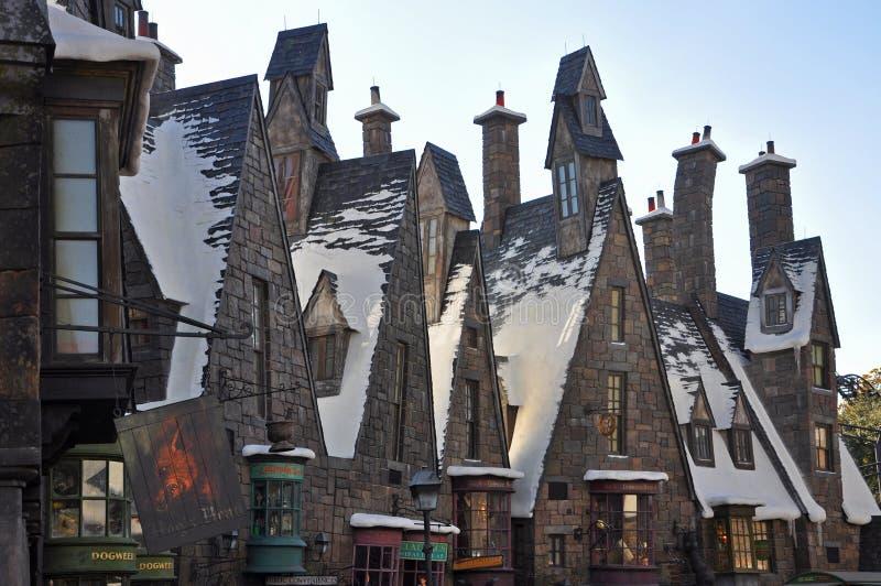 Wizarding värld av Harry Potter, Orlando, Florida, USA royaltyfri fotografi