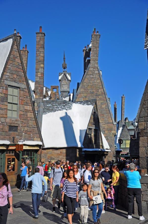 Wizarding värld av Harry Potter, Orlando, Florida, USA royaltyfria foton