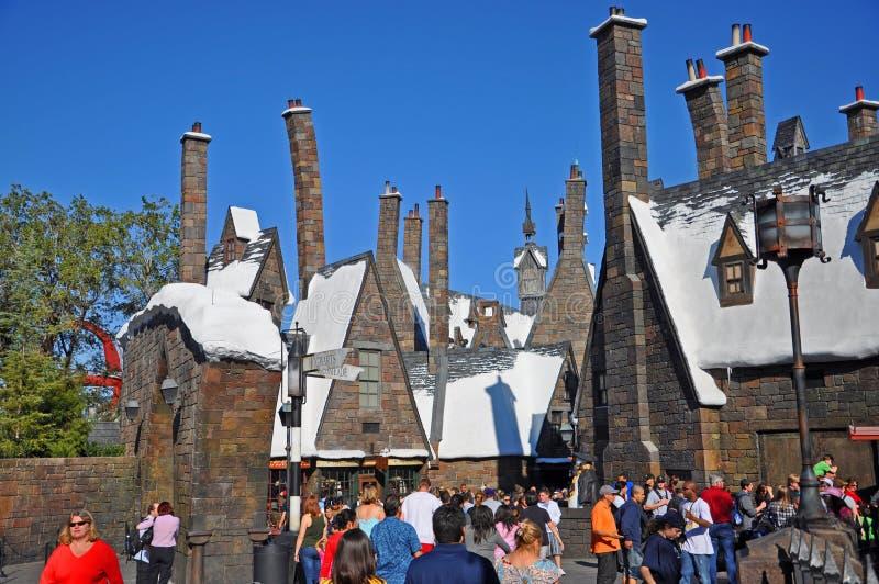 Wizarding värld av Harry Potter, Orlando, Florida, USA royaltyfria bilder
