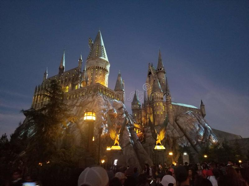 The Wizarding World of Harry Potter. Rise u wand stock photos
