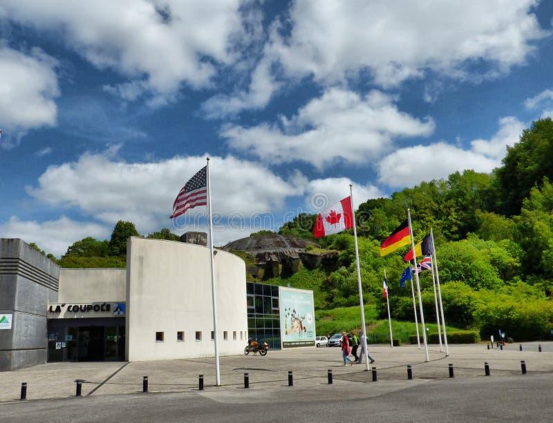 WIZERNES FRANCJA, MAJ, - 1, 2019: Kopuła los angeles Coupole jest Drugi wojna światowa bunkieru kompleksem budującym Nazistowskim obrazy royalty free