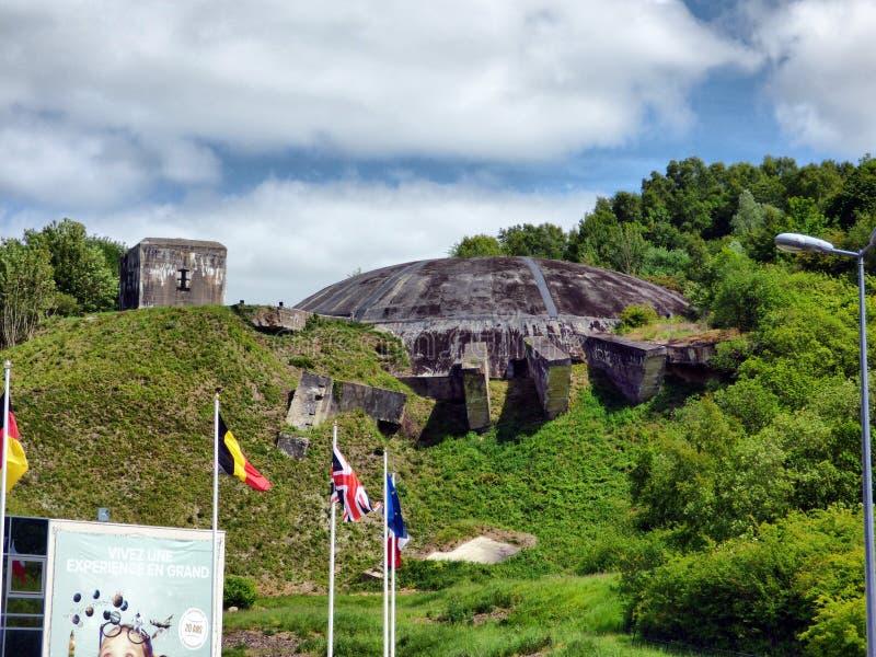 WIZERNES, FRANKREICH - 1. MAI 2019: Das Hauben-La Coupole ist ein Bunkerkomplex des zweiten Weltkriegs, der von Nazi Germany erri lizenzfreie stockfotografie