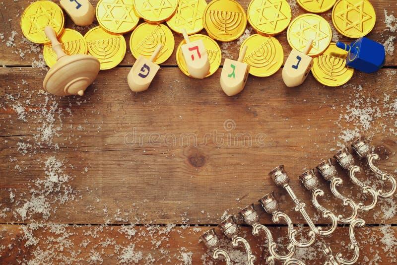 Wizerunek żydowski wakacyjny Hanukkah tło