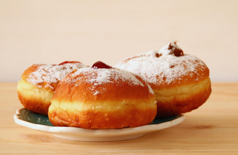 Wizerunek żydowski wakacyjny Hanukkah z donuts