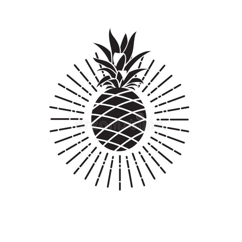 Wizerunek ananasowa owoc ilustracja wektor