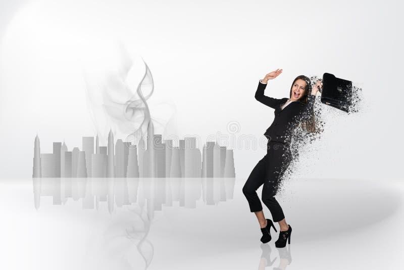 Wizerunek bizneswomanu latanie zdjęcie stock