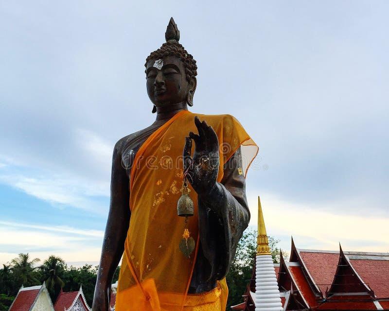 Wizerunek Buddha w buddyzm świątyni obraz stock