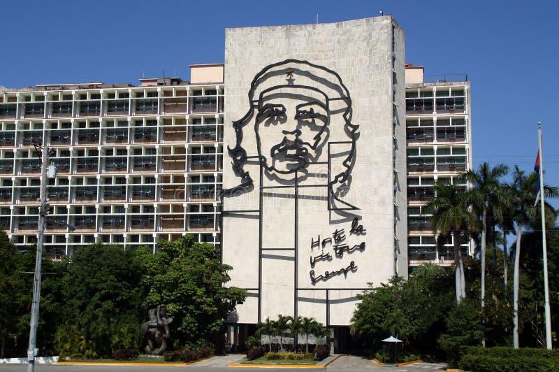 Wizerunek Che Guevara w Hawa?skim, Kuba zdjęcie stock