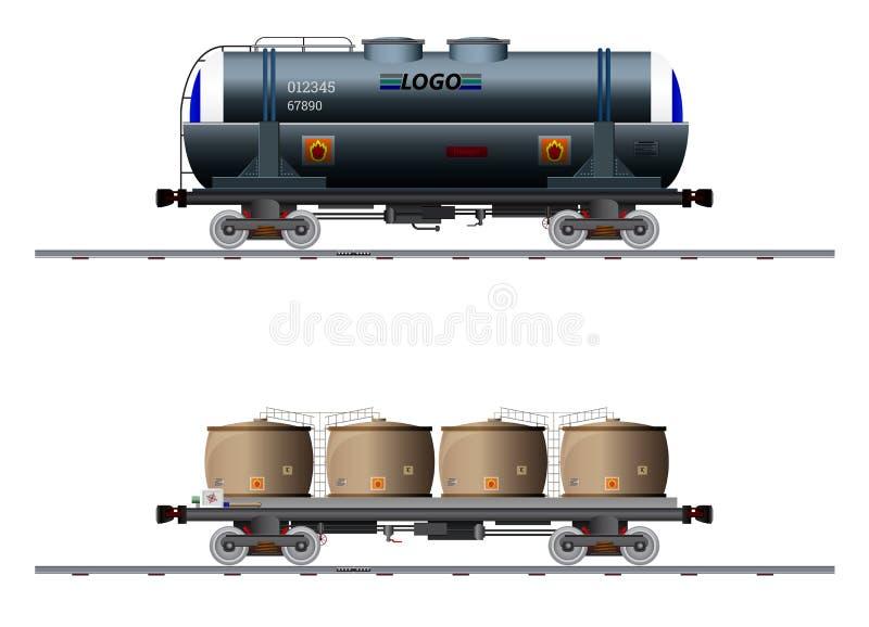 Wizerunek dwa ładunków fracht ilustracja wektor