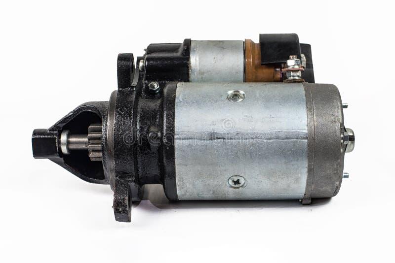 Wizerunek Elektryczny starter dla samochodu odizolowywającego na białym tle zdjęcie stock