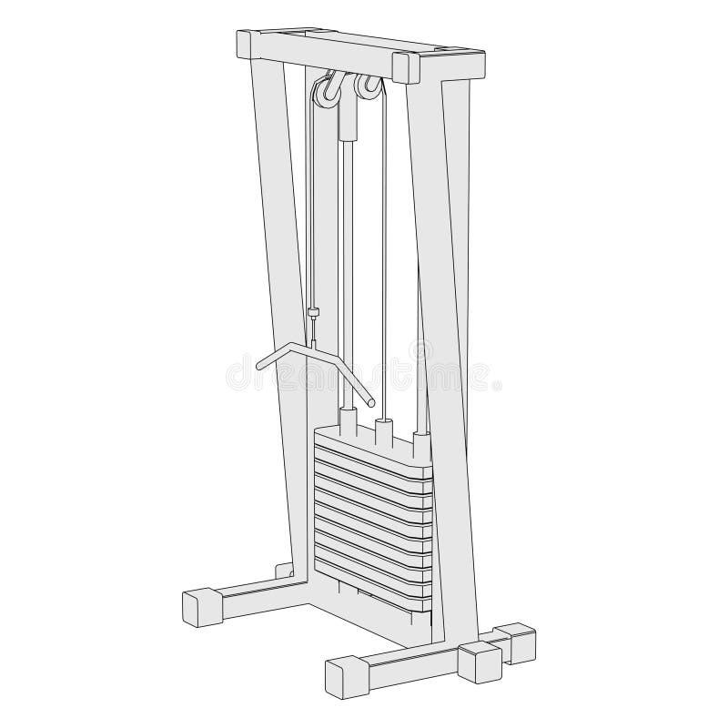 Wizerunek gym maszyna ilustracja wektor